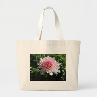 Pretty Pink Chrysanthemum Large Tote Bag