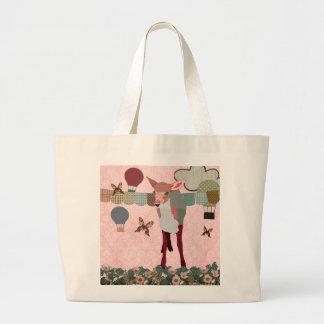 Pretty Pink Fawn Balloon Race Bag