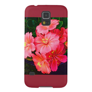 Pretty Pink Floral Galaxy S5 Case Plum Accents