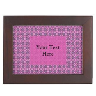 Pretty Pink Floral Pattern Keepsake Box