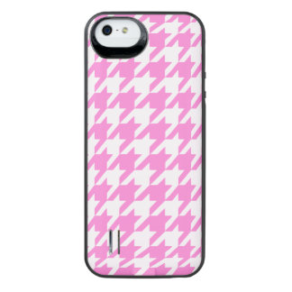Pretty Pink Houndstooth 1 iPhone SE/5/5s Battery Case