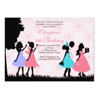 "Pretty Pink Princess  Fairy Birthday Party 5"" X 7"" Invitation Card"