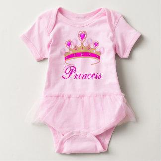 Pretty Pink Princess Tiara Baby Tutu Bodysuit