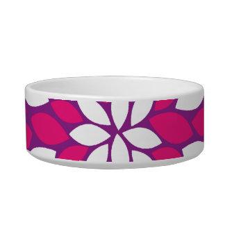 Pretty Pink Purple White Mandala Flower Circle Bowl