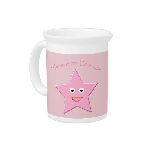 Pretty Pink Star Pitcher