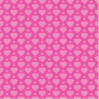 Pretty Pink Valentine Hearts Photo Sculpture Magnet