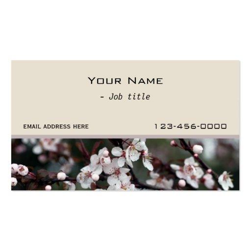 pretty plum  flowers contemporary business card business card templates