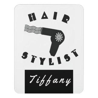 Pretty Professional  Hair Dryier Stylist Salon Door Sign