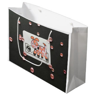 PRETTY PUPPY DOUBLE SIDED SHOPPING BAG