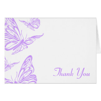 Pretty Purple Butterfly Thank You Note Card