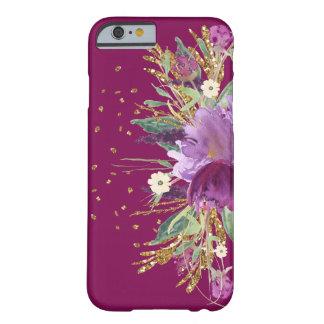 Pretty purple Glitter floral iPhone 6 Case