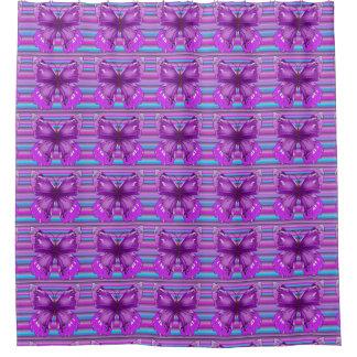 Pretty purple shower curtain