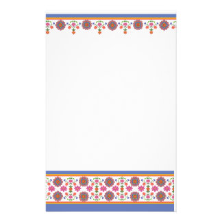 Pretty Rangoli Floral Borders Stationery