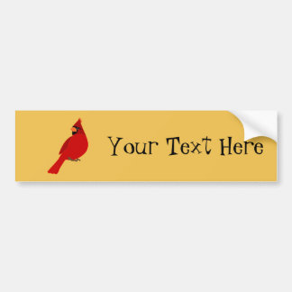 Pretty Red Cardinal Bumper Sticker