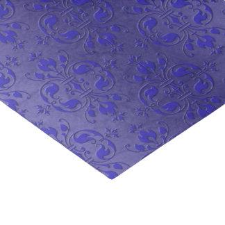 Pretty Royal Blue Elegant Damask Pattern Tissue Paper