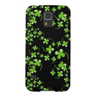 Pretty Shamrock pattern, green on black accessory Galaxy S5 Cases