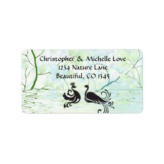 Pretty Silhouette Water Birds Spring Address Label