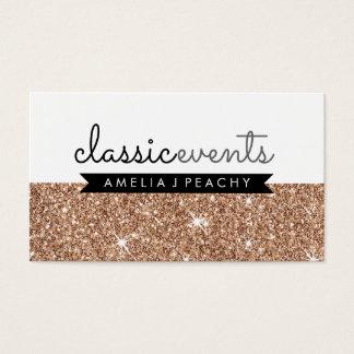 PRETTY SMART modern simple cute rose gold glitter Business Card