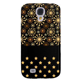 Pretty Snowflakes and Stars Galaxy S4 Case
