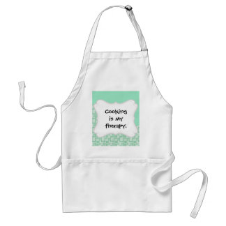 Pretty Soft Mint Green Wave Tile Pattern Gifts Standard Apron