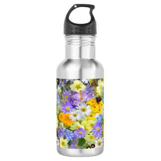 Pretty Spring Flowers Collage 532 Ml Water Bottle