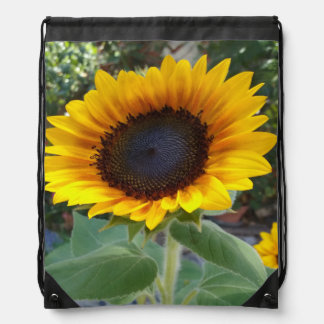 Pretty Sunflower Drawstring Bag
