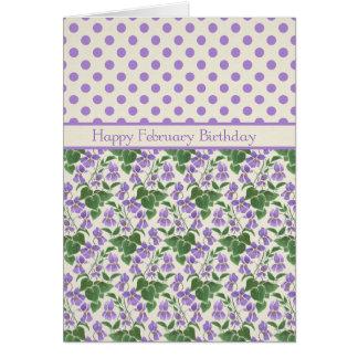 Pretty Sweet Violets, February Birthday Card