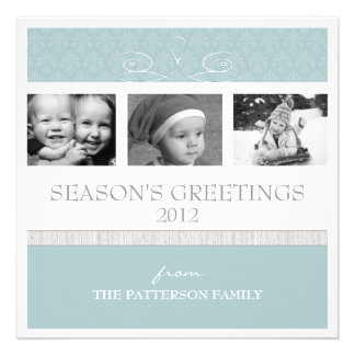 Pretty Swirl Season s Greetings Holiday Photo Card Invite