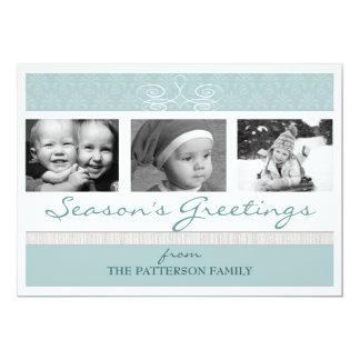 Pretty Swirl Season's Greetings Holiday Photo Card 13 Cm X 18 Cm Invitation Card