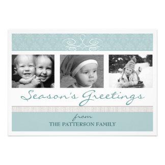 Pretty Swirl Season's Greetings Holiday Photo Card