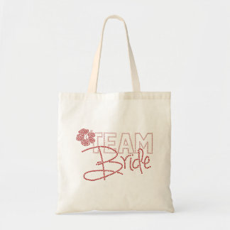 Pretty Team Bride & Hibiscus Flower Tote Bag