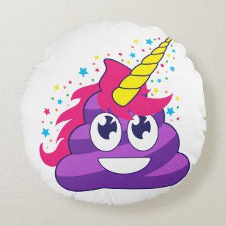 Pretty Unicorn Poop Round Cushion