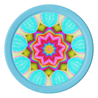 Pretty Vibrant Fractal Poker Chips