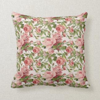 Pretty Vintage Pink Roses Cushion