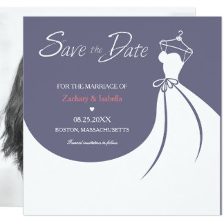 Pretty Wedding Dress Save the Date Invitation