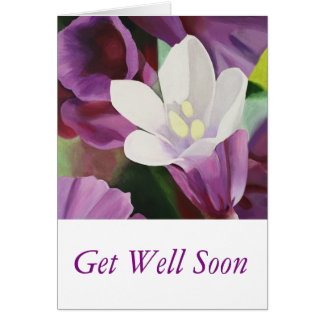 Pretty White Flower - Get Well Soon Card