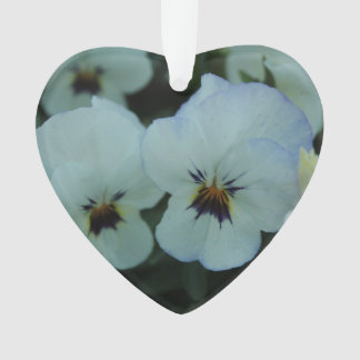 Pretty White Pansies