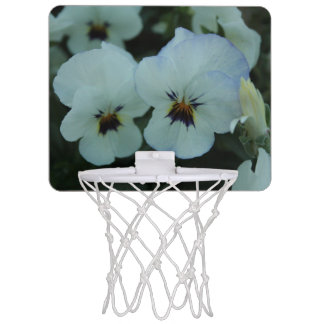 Pretty White Pansies Mini Basketball Hoop