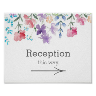 Pretty Wildflowers | Garden Wedding Reception Sign
