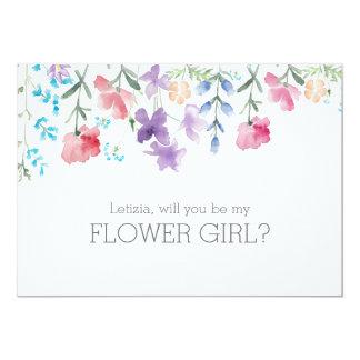 Pretty Wildflowers | Rustic Flower Girl 13 Cm X 18 Cm Invitation Card
