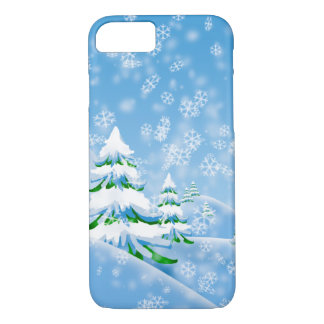 Pretty Winter Snowstorm Christmas Snowflakes iPhone 7 Case