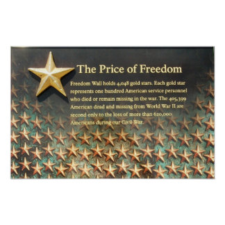 """Price of Freedom"" World War II Memorial Poster"