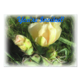 Prickly Pear Cactus Flower 13 Cm X 18 Cm Invitation Card