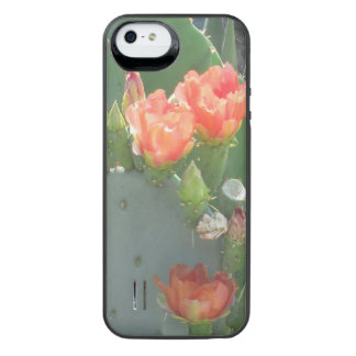 Prickly Pear Cactus Green Red Bloom iPhone SE/5/5s Battery Case