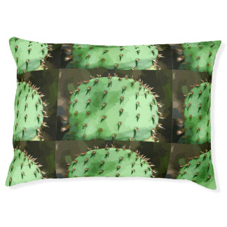 Prickly Pear Cactus Large Dog Bed