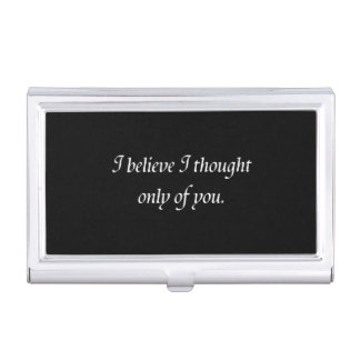 Pride and Prejudice Quote Business Card Holder