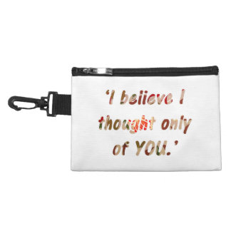 Pride and Prejudice Quote Double-Sided Accessory Bag