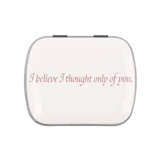 Pride and Prejudice Quote Jelly Belly Candy Tins