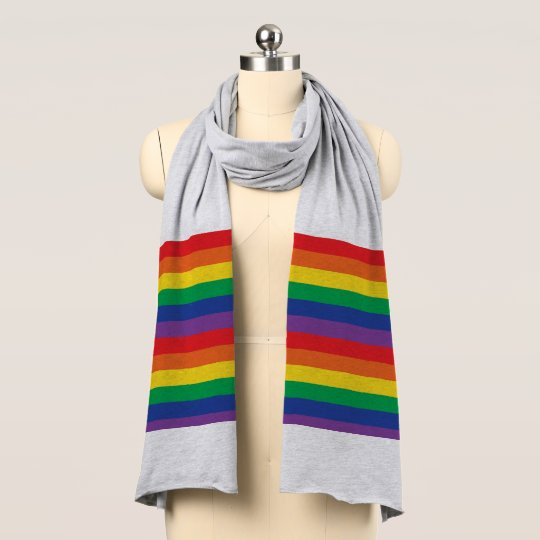 Pride Flag Jersey Scarf