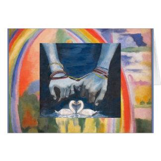 PRIDE Handfasting card with Rainbow